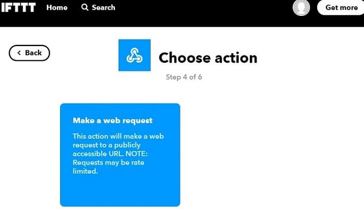 IFTTT Make a web request
