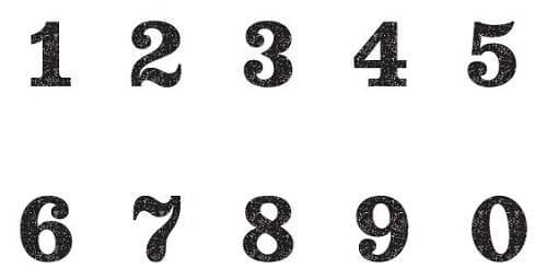 数字 0~9 モザイクなし